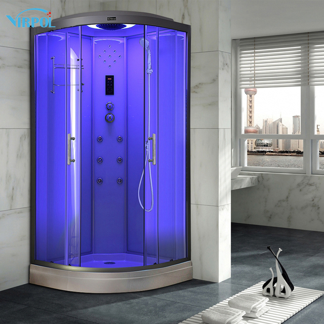18 90 cm Blanc hydro À Vapeur salle de douche enceinte box de bain ...