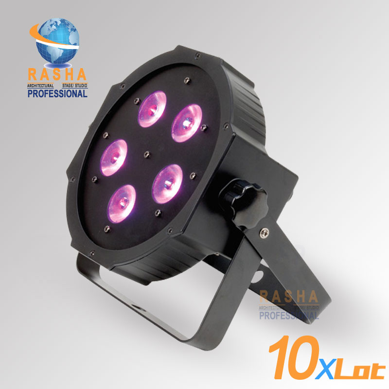 10X LOT Rasha HexV6 New Arrival 5*18W 6in1 RGBAW+UV LED Par Profile,LED Mega Profile Light,Disco Stage Par Light for Event Party 5 30 pcs lot 1m aluminum profile for led strip milky transparent cover for 12mm pcb with fittings embedded led bar light