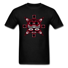 Men T Shirts Northwest Indian Beaver Sun Print Tops T-Shirt Pure Cotton Crewneck Short Sleeve Design Tee-Shirts Fall Streetwear