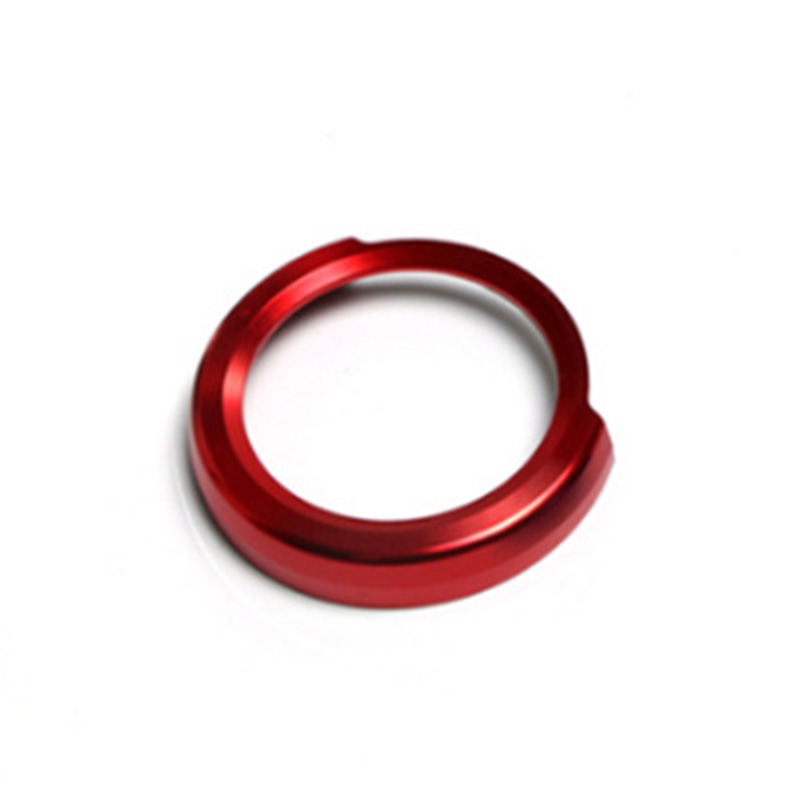 Red Button Cover Trim Switch Ring Auto Car Vehicle Ignition For <font><b>BMW</b></font> 1 2 <font><b>3</b></font> Interior Engine Start image