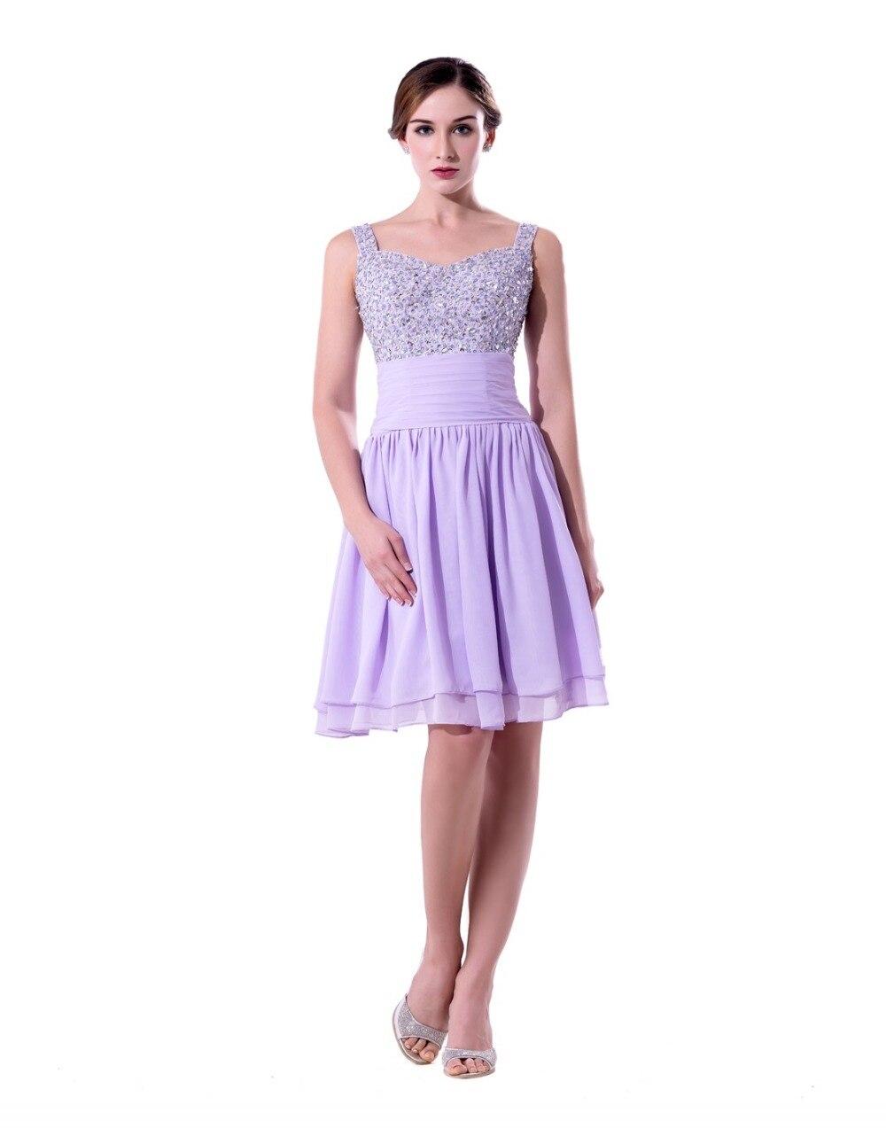 Lavender Knee Length Bridesmaid Dresses | Wedding Gallery