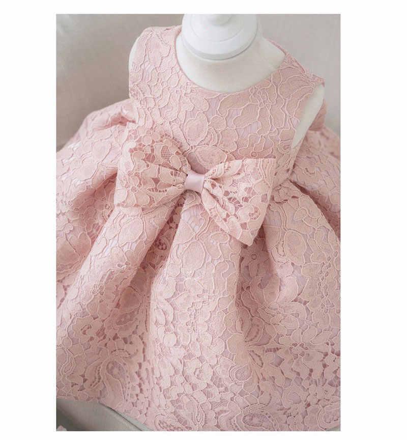 באיכות גבוהה ורוד אורגנזה glitz טבילת תינוקת dress dress עבור 1 שנה ילדה תינוק יום הולדת dress chirstening dress עבור תינוקות