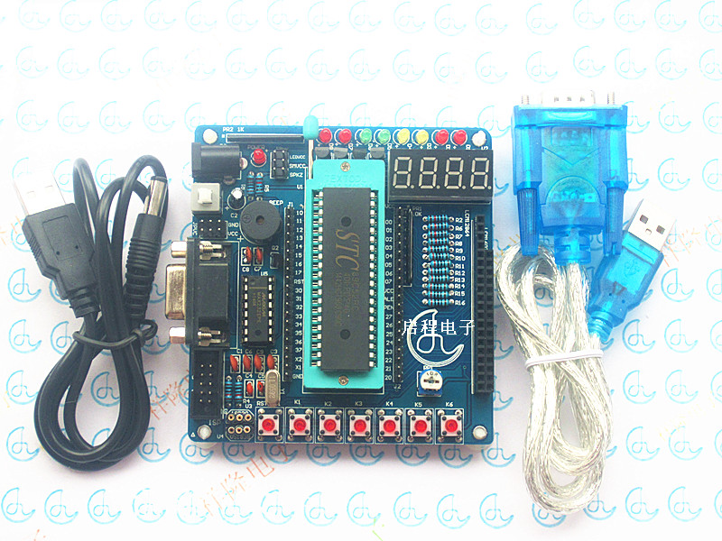 MCU development board minimum system board STC89C52/AT89S52 development board MCU learning board a1201 msp430 minimum development board w jtac interface blue