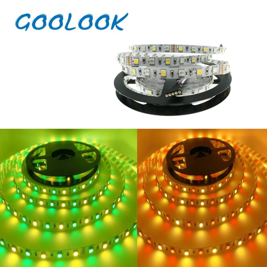 5m 5050 60leds/m SMD RGB LED Strip Light RGBW led lighting Flexible led tape diode ribbon DC 12V Most beautiful home lamp