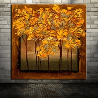 Flower Paintings No Frame Picture On Canvas Handpainted Modern Abstract Tree Oil Painting Home Decor For