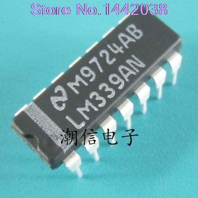 NATIONAL Semiconductor IC DIP14 LM339N COMPARATORE Quad 339