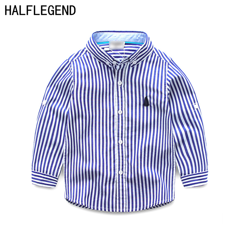 Boy's shirt Children's clothing spring&autumn long-sleeved shirt cotton striped shirts Casual style kids clothes high quality new arrival spring fall children shirt striped long sleeved shirt 100