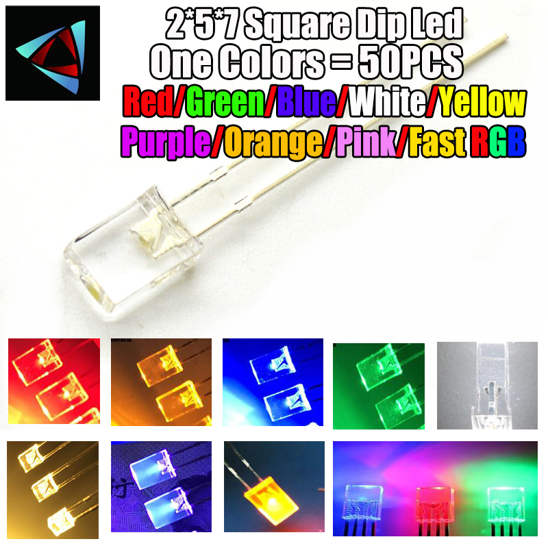 Electronic Components & Supplies Careful 50pcs 5mm 4.8mm Straw Hat Clear Warm White Green Red Blue Purple Yellow Orange Pink Rgb Diy Light Emitting Diode Set Active Components