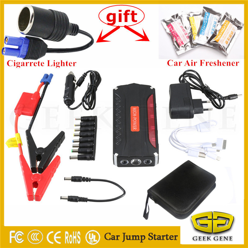 2017 Emergency Car Jump Starter Portable 12V Starting Device Power Bank 600A Pack Car Charger For Car Battery Booster Buster LED 2017 30000mah 12vportable car jump booster led charger emergency start power bank new