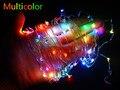 Multicolor 10 M 100 LED Fio de Cobre férias LED Luzes De Fadas de Cordas twinkle Lâmpada para Decoração de jardim com DC12V poder fornecer