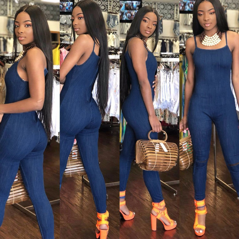 2018 Hot Sell Women Sexy Solid Color Sleeveless Striped Backless Skinny Jumpsuit Summer Off Shoulder Romper For Ladies