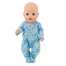Clothes For Doll Fit 18 inch 43cm Born New Baby Girl Blue Moon Star Unicorn Mermaid Clothes Accessories For Baby Birthday Gift born new baby fit 18 inch 43cm clothes for doll blue pink red star with hairhand clothes accessories for baby birthday gift