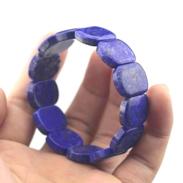 Фото натуральный лазуритовый камень браслет натуральный с драгоценным цена
