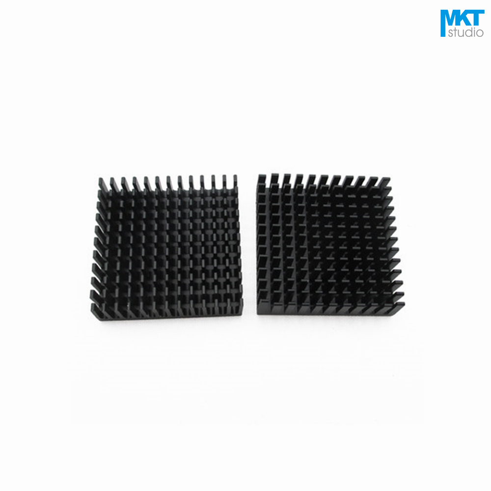 50Pcs Black 40x40x11B Pure Aluminum Cooling Fin Radiator Heat Sink