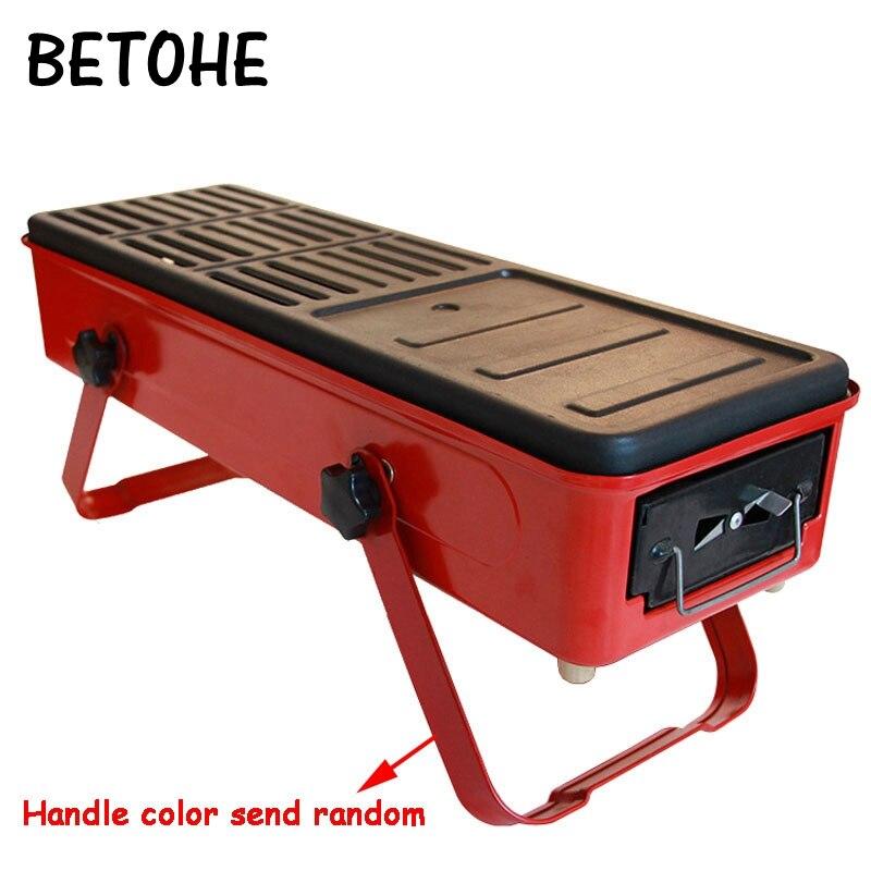 BETOHE Barbecue extérieur mini barbecue maison charbon outils de cuisson 3-5 personnes sauvage ensemble complet de poêle à charbon sans fumée