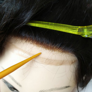 Image 3 - Hstonir טהור בעבודת יד Mens פאה משי בסיס עם שוויצרי תחרה עור דק גברים רמי שיער מערכות H032