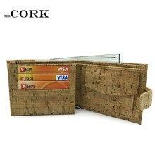 Rustic Natural Cork pénztárca férfiaknak parafa vegán kézzel készített alkalmi fából Eco pénztárca Portugáliából BAG-200