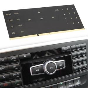 Car Radio CD Button Sticker Decals for Mercedes Benz 2008 2009 2010 2011 2012 2013 2014 Auto Accessory