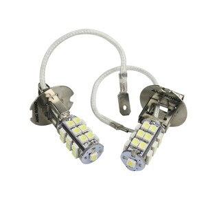 Image 2 - ANGRONG 2 pcs 453 H3 25 SMD LED סופר לבן קסנון פנס ערפל אור נורות מנורות 12 V