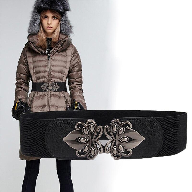 Free Shipping Belt female wide belt all-match elastic waist elastic strap belt decoration down coat overcoat skirt cummerbund