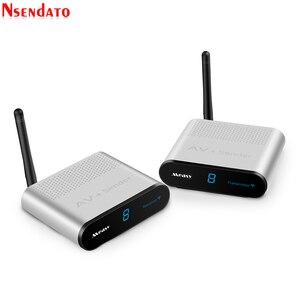 Image 3 - Measy AV220 2.4G bezprzewodowy nadajnik AV odbiornik Audio wideo TV odbiornik sygnału AV nadajnik przejść przez ścianę 200M / 660FT dla SD