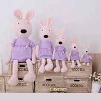 Fancytrader 1 шт. фиолетовый одет французский кролик плюшевые игрушки lesucre сахар Банни Куклы для Обувь для девочек 120 см 47 cm