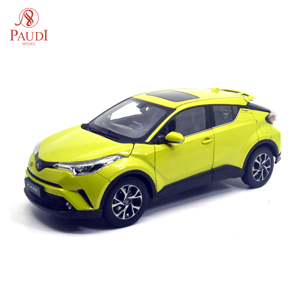 1/18 1:18 1 18 Scale Toyota C-HR CHR 2019 Yellow Static Simulation Diecast Alloy Model Car Gifts Collections