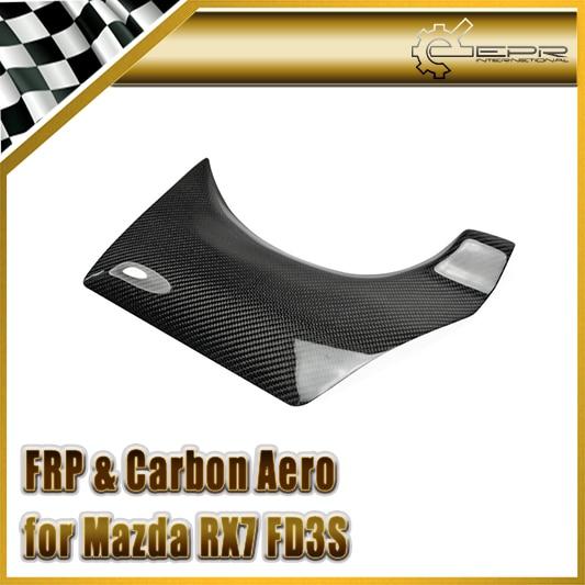 Car-styling For Mazda RX7 FD3S Carbon Fiber Rear Bumper Exhaust Heat Shield Rear Bumper Garnish car styling for mazda mx5 na nb carbon fiber rear view room mirror cover in stock