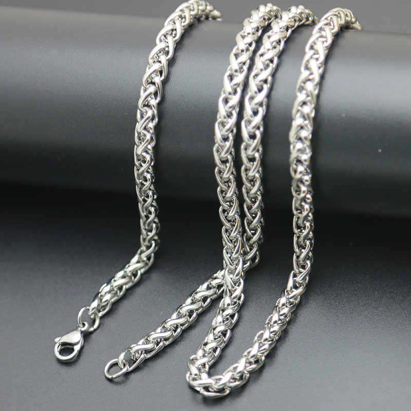 Fashion Pendant Necklace Chain 316L Stainless Steel 2.5mm 3mm 4mm 5mm Lanterns Necklace Chain For women men locket pendant
