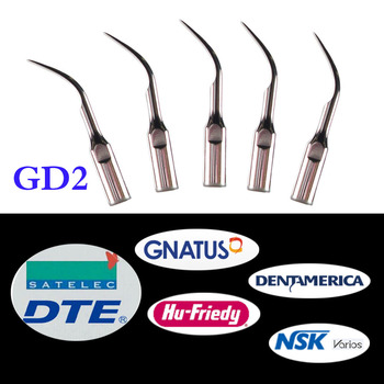 5 pcs/lot Dental Ultrasonic Scaler Tip GD2 for DTE/ Satelec/ NSK Varios/ Gnatus/ Bonart/ Rollence-S/ HU-FRIEDY/ DENTAMERICA 3 pcs lot dental scaler tip ed4d for dte satelec nsk gnatus bonart dentist endo device instrument teeth whitening