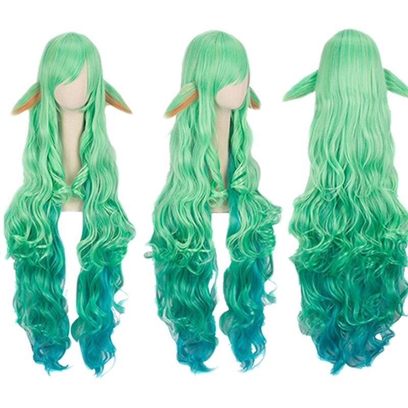 100cm Wig LOL Soraka Wig Star Guardian Cosplay Wig + Wig Cap