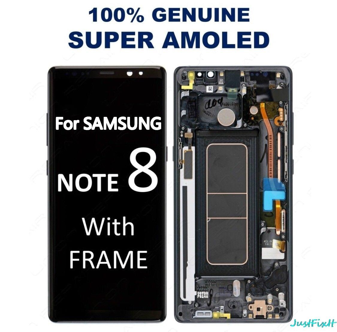 """100% Original Für Samsung Note 8 N9500 N950FD N950U Burn in Schatten Lcd Display Touchscreen Digitizer Montage 6,3 """"mit Rahmen-in Handy-LCDs aus Handys & Telekommunikation bei AliExpress - 11.11_Doppel-11Tag der Singles 1"""