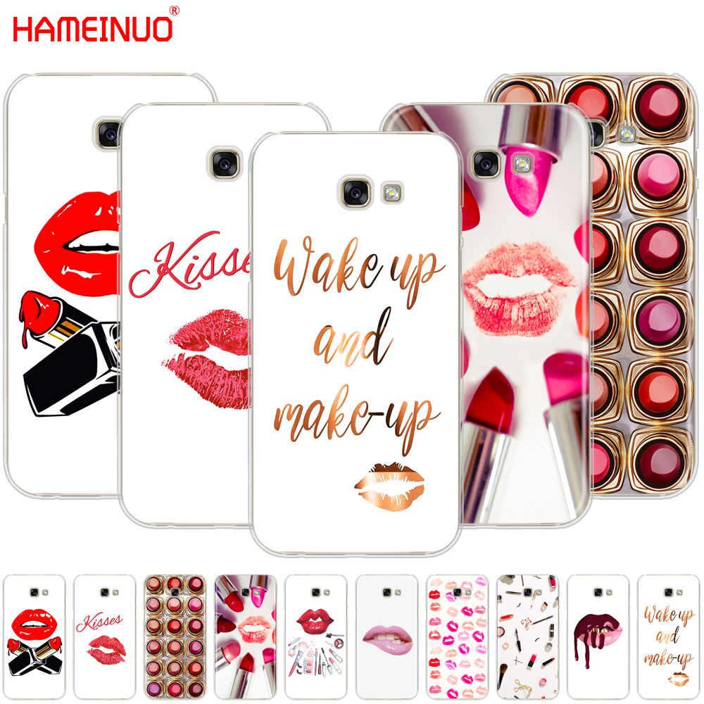 HAMEINUO เซ็กซี่ Lips เครื่องสำอางค์ลิปสติก Powder สำหรับ Samsung Galaxy A3 A310 A5 A510 A7 A8 A9 2016 2017 2018