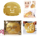 3PCS/LOT 24K Gold Bio-Collagen Crystal Facial Mask Moisturzing Anti-aging Gold Powder Face mask Awesome Result !