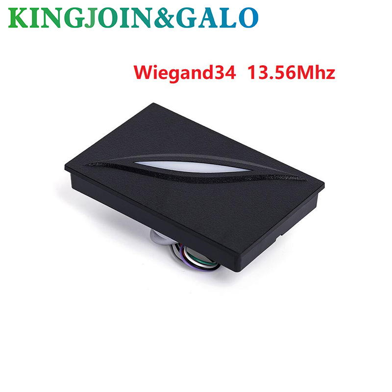 RFID EM card reader for access control system wiegand26 125KHZ RFID card reader IP65 waterproof weigand card access reader waterproof for rfid card reader access control system identification card reader with wg26 34 for home security f1683a