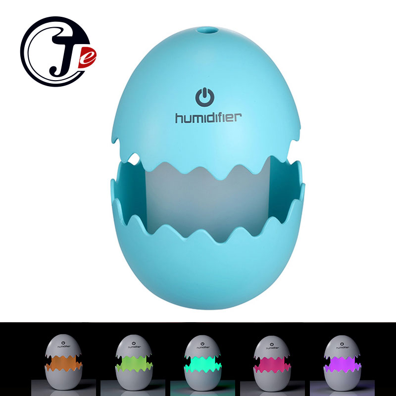 100ML Egg Ultrasonic Air Humidifiers Mist Maker For Home Aromatherapy Diffuser Air Freshener Fogger With Leds Lamp Night Light