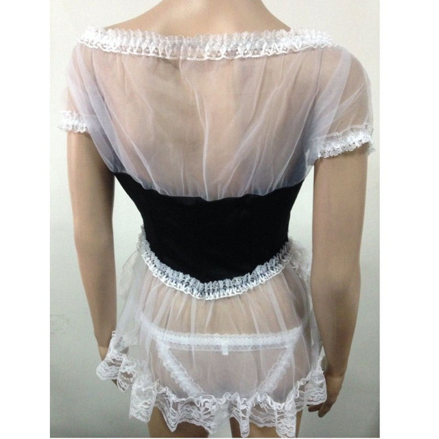 Cosplay Maid Sexy Costumes Plus Size Lingerie Sexy Hot Erotic Underwear For Women Lace Babydolls & Chemises Maid Uniform