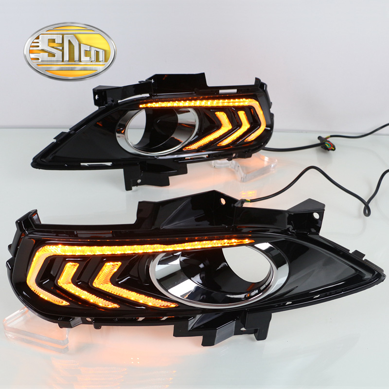 For Ford Mondeo Fusion 2013 2014 2015 2016 Yellow Turning Signal Relay Waterproof Car DRL Lamp LED Daytime Running Light SNCN