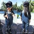 Primavera roupas de bebê crianças roupas em geral para o menino menina criança macacão jeans para crianças meninas jumpsuit enteritos macacão calça jeans