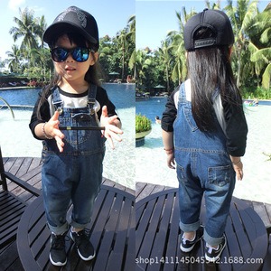 Image 1 - אביב תינוק בגדי ילדים בגדים כולל עבור ילד ילדה enteritos ילד ג ינס סרבל לילדים בנות סרבל macacao ג ינס