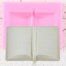 ثلاثية الأبعاد كتاب المدرسة سيليكون قوالب لتقوم بها بنفسك طفل حفلة فندان أدوات تزيين الكعكة كب كيك كوكي الخبز الحلوى الشوكولاته gumhang قالب