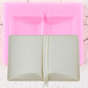 Image 1 - 3D School Book Silicone Molds DIY Baby Party Fondant Cake Decorating Tools Cupcake Cookie Baking Candy Chocolate Gumpaste Mould
