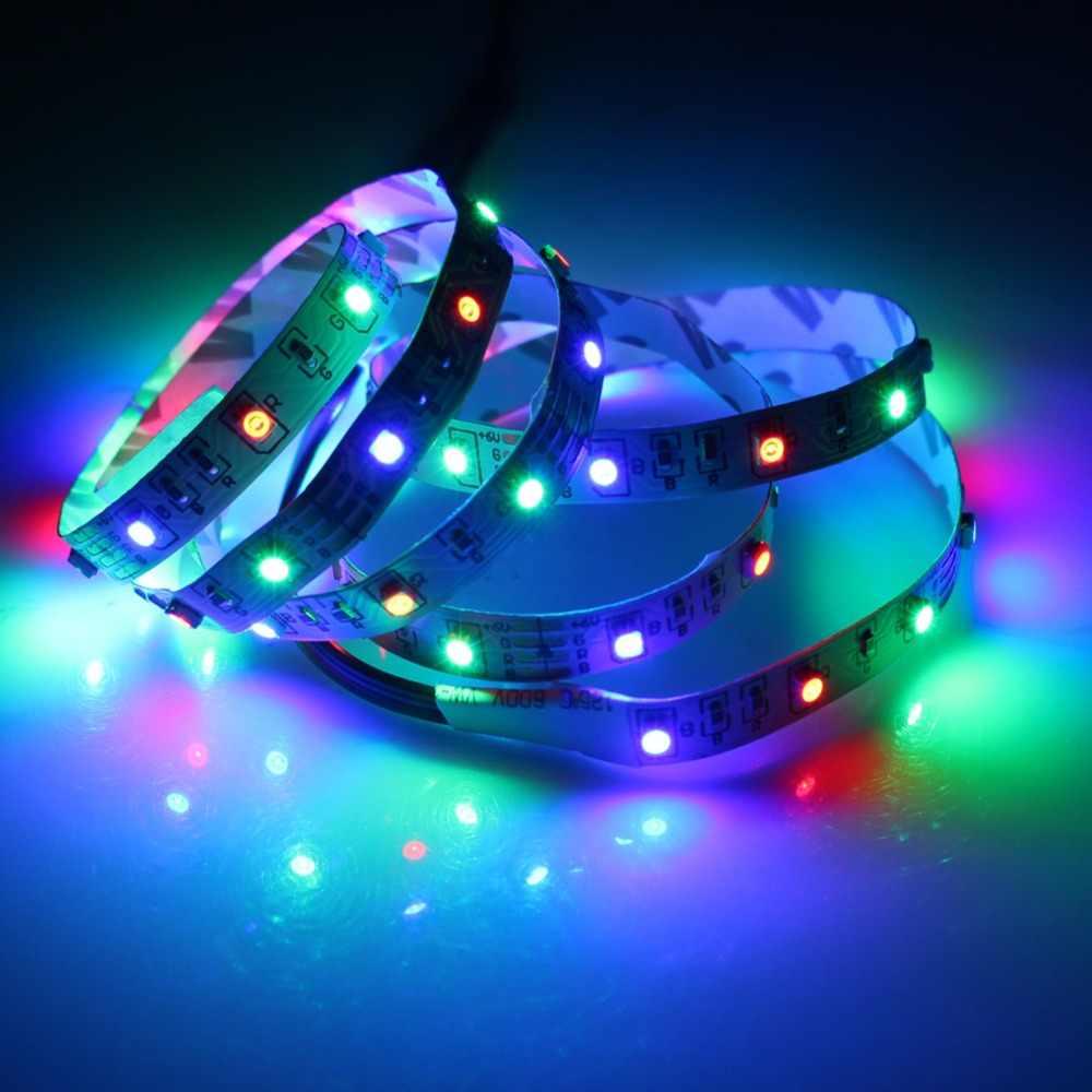 5V RGB LED רצועת USB 5V Led רצועת אור תאורה אחורית טלוויזיה 2835 1m 5m תאורת שולחן עבודה 5V Led רצועת אורות מנורת קלטת דיודה סרט