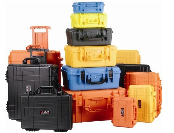 Tool case toolbox suitcase Impact resistant waterproof ABS camera case security equipment Spare parts kit with pre-cut foam