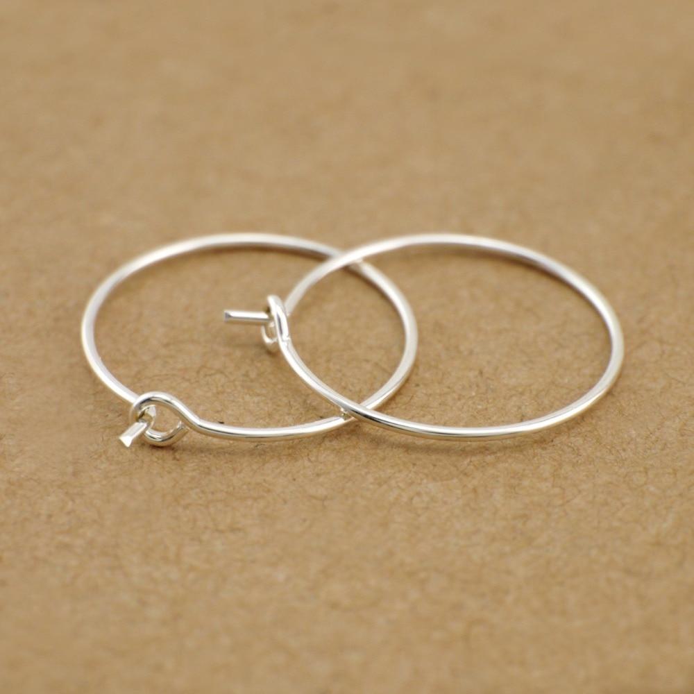Us 2 99 1 Pair 925 Sterling Silver Ear Hoop Wire Earrings Findings Diy Jewelry A1394 In From Accessories On Aliexpress