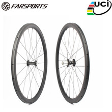 Far sports FSC38-TM-25 Chris King R45 38mm 25mm High TG braking carbon bike rim, Road 700c 25mm wide tubular bicycle rims
