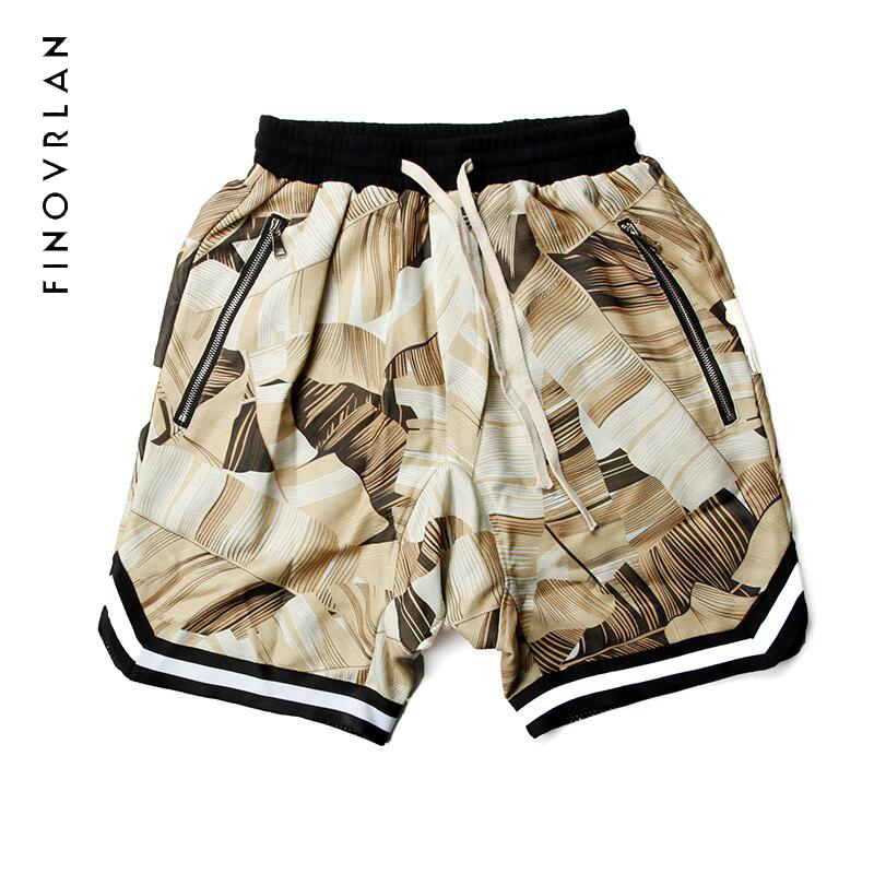 2018 ss printing Shorts Men Hip Hop FOG Kanye harajuku Casual Justin Bieber Zipper Skate Mesh Retro Shorts women trouser