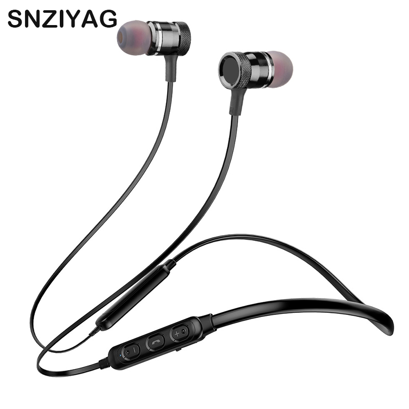 SNZIYAG LY-16 Sport Bluetooth Earphone Neckband Magnetic Metal Wireless Headphone Headset SweatProof Bass Earbuds For Smartphone цена