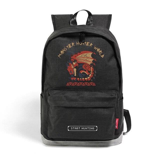 386379909ad02 Monster Hunter Plecak Animacja Gry Licealistów Bookbag Kobiety Mężczyźni na  ramię Torba Podróżna Torba Na Laptopa