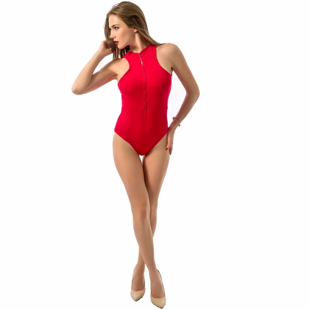 HTB1qBZTRVXXXXbRXXXXq6xXFXXXd - Sexy Red Swimwear Women Zipper Swimwear One Piece JKP011